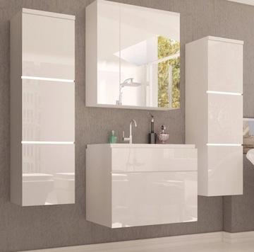Еркальные шкафы для ванной комнаты белый глянец PARIS