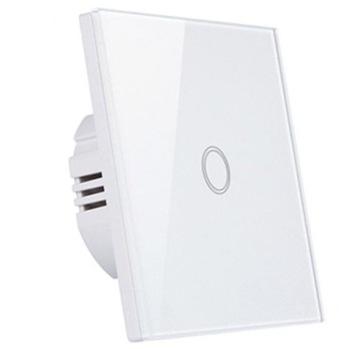 Одиночный выключатель света с подсветкой