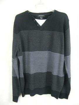 CEDARWOOD STATE czarny sweter w prążek R L