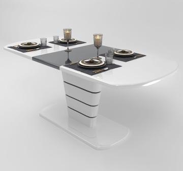NAIROBI раздвижной стол 140-180 см белый глянец