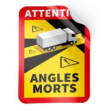 Наклейка ANGLES MORTS France TIR слепые зоны 50