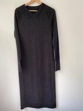 cos maxi sukienka bawełna wełna M/38