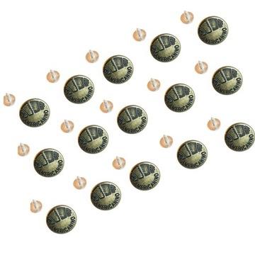 15 кнопок для джинсов, металл 17 мм