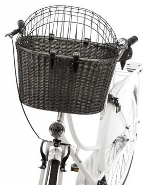 Trixie - Велосипедная корзина с сеткой, 44x34x41 см, антр.