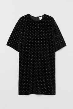 H&M 38 M Sukienka typu T-shirt welurowa