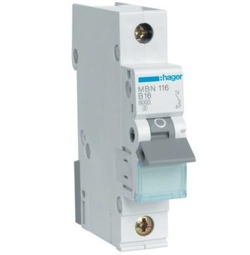 Автоматический выключатель MBN125E 1P B25 Hager