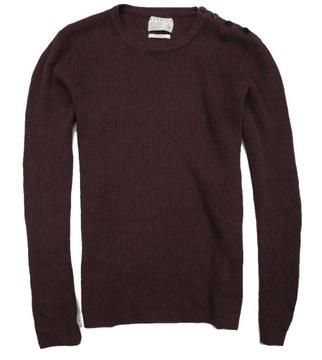 Jack Jones premium sweter bawełniany męski bordo L