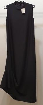COS Czarna drapowana długa sukienka r 34 Nowa