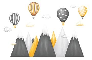 Детские настенные наклейки горный верх воздушный шар XXXL
