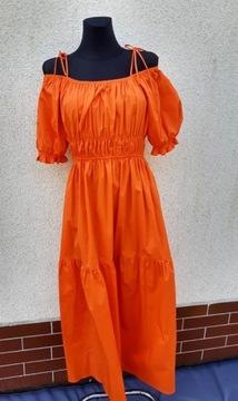Pomarańczowa sukienka Wiya tu R-38-40