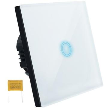 Сенсорный выключатель Разъем света Стекло Белый светодиод