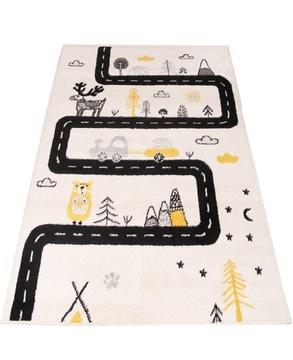 Желто-черный ковер Bambino Forest Road 100x150