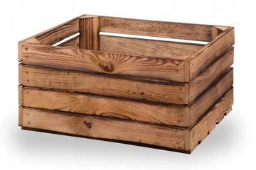 Ящики деревянные обожженные, ящик 40х30х20
