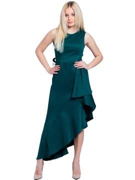 Wspaniała sukienka wieczorowa zielona BB Studio 40