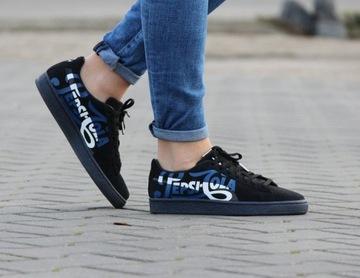 Niebieskie buty puma w Buty damskie Allegro.pl