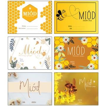 10X стикеры этикеток с медом баночки с медом
