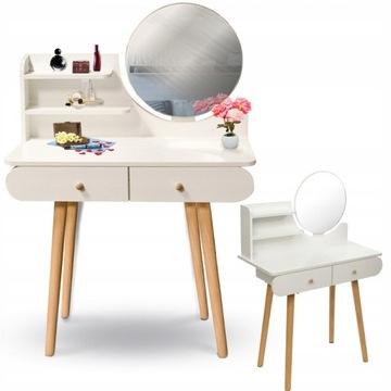 Скандинавский косметический туалетный столик с зеркалом SCANDI