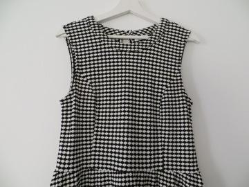 Sukienka damska Only L czarno biała bez rękawów