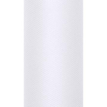 Тюль декоративный 15 см - белый, 9 м