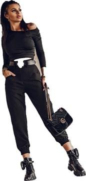 """Spodnie """"CONTE ELEGANT"""" O La Voga czarny czarny M"""