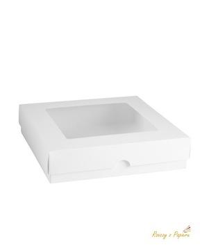 Ящик с окном, высокий квадрат - белый