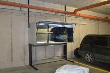 Шкаф гаражный оцинкованный 1800л. Ящик. Гаражный ящик