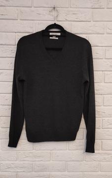 Calvin Klein sweter męski 100% merino wool S