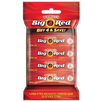 Большая красная жевательная резинка с корицей, США