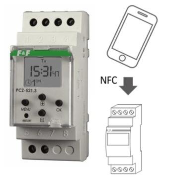 Программируемые еженедельные контрольные часы PCZ-521