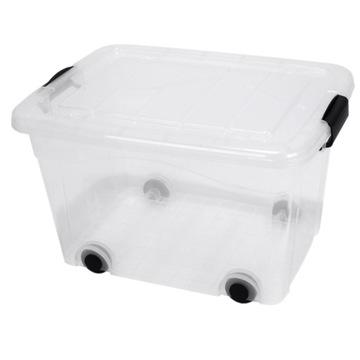 Контейнер, ящик, ящик с крышкой, 100л прозрачный.