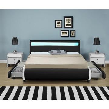 Кровать 140x200 LED + кокосовый матрас