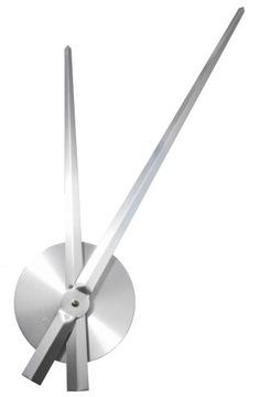 Часовой механизм ДЛИННЫЕ СТРЕЛКИ 38,5 см СЕРЕБРЯНЫЙ