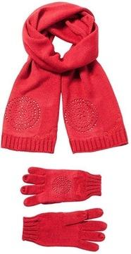 Szalik i rękawiczki DESIGUAL BASIC damski zimowy