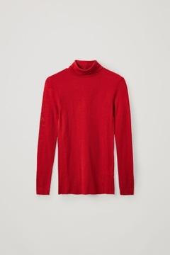 COS Sweter z golfem, 100% wełna , rozm.34/XS