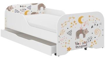 Детская кровать МИКИ 140x70 + матрас МНОГО дизайнов