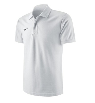 Koszulka NIKE Team Core Polo biała rozmiar S