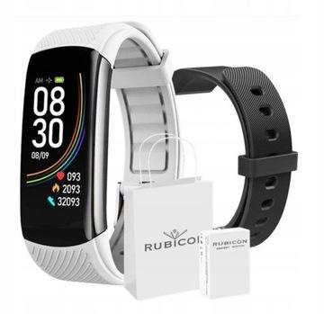 Smartwatch Rubicon C6 RNCE59 Black + Pasek Biały