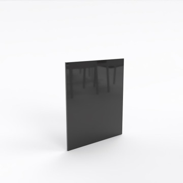 Фасады, двери глянцевый, МДФ черный
