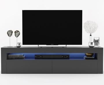 Современная тумба под ТВ Graphite Gloss 155 см, комод