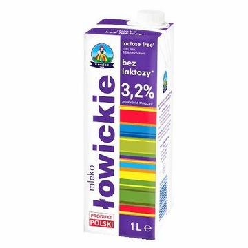 Łowicz безлактозное молоко uht 3,2% 1л