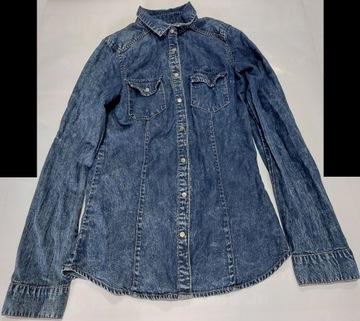 Koszula Jeansowa Plus Size. Koszule Dżinsowe Damskie Duże