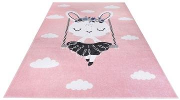 розовый ковер 160x230 кролик различные модные красивые дизайны