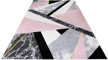Молодежный коврик 120x170 уникальный стильный розовый