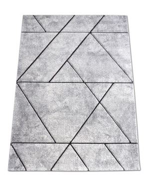 Ковер Diamond Lines 3D 160x230 серый
