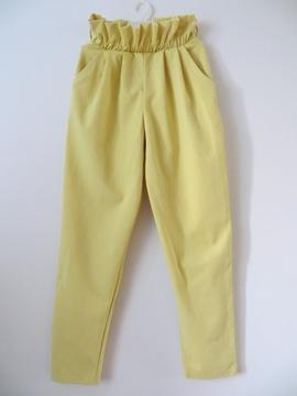 Spodnie damskie typ mom jeans 38 żółte