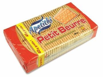 Печенье Apetitki Petit Beurre 360г + 40г (400г)
