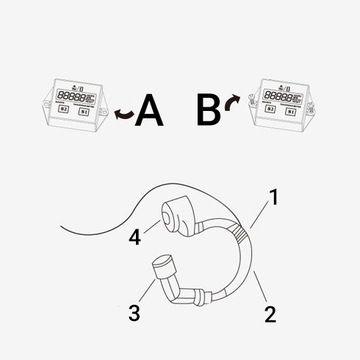 Спидометр моточасов czasu тахометр+ reset motor, фото 9