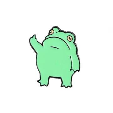 PINETS przypinka Wredna żaba zielona fuck you
