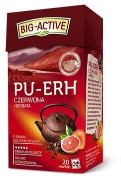 Красный чай Big Active Pu-Erh грейпфрут 20 ст.