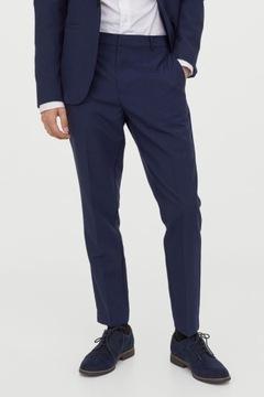 spodnie garniturowe skinny H&M 46 170/80 B230